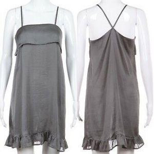 Anthro Eloise Gray Slip Dress S